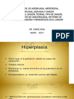 Hiperplasia, Hipertrofia, Metaplasia, Displasia y Cancer