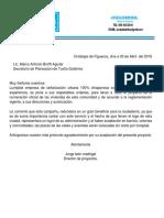 Carta AYUNTAMIENTO Tuxtla Planeacion