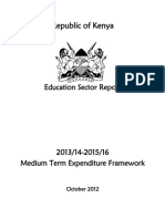Education Sector Report FY 2013-14