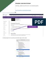 Creando La Página WEB Con Bootstrap