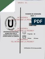 EXAMEN ADMISION ORIDNARIO 2019 UNPRG
