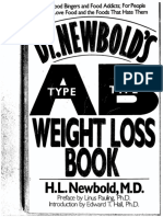The Type a Type b Weight Loss Book by h l Newbold