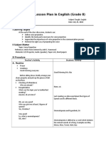 Detailed Lesson Plan in English Grade 8