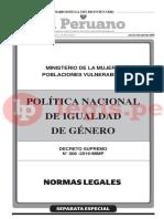 DS 008 2019 Política Nacional de Igualdad de Género