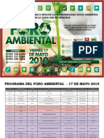 Programa de Foro Ambiental