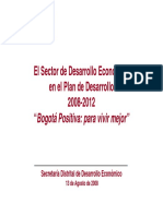 Plan de Desarrollo 2008-2012 Bogotá Positiva