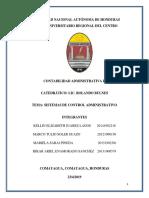 Informe Grupo #1 Sistema de Control Administrativo Listo