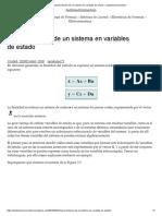 Representación de Un Sistema en Variables de Estado – Dademuchconnection
