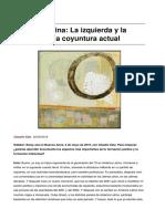 America Latina La Izquierda y La Derecha en La Coyuntura Actual
