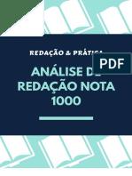 Análise de Redação Enem Nota 1000