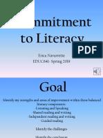 commitment to literacy- navarrette