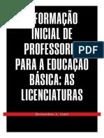 A formação inicial de professores para a EB - as licenciaturas.pdf