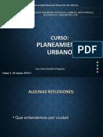 Planeamiento Urbano Clase 1 2019 1