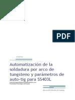 Automatización de La Soldadura TIG Marcia Solís