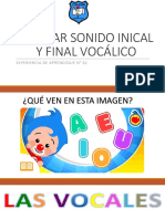 Apoyo Clase 62 Pac Lenguaje Discriminación Auditiva Sonido Inicial y Final