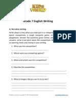 Grade 7 English Writing