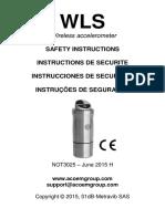 Wls Safety Instructions of Wireless Acelerómeter