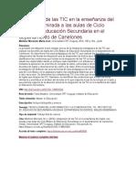 Integración de Las TIC en La Enseñanza Del Inglés