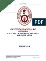 Informe Analisis de Arena y Fundicion