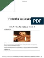 4 Aula Filosofia Da Educação - Filosofia Medieval - Parte II