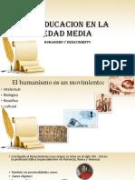3.3 Humanismo y Renacimiento