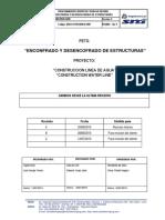 SD-OPE-PETS- 003 Rev C - Encofrado y Desencofrado de Estructuras