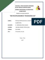 Microorganismos Transgenicos Trabajo