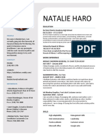 natalie haro new resume