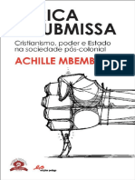 MBEMBE, Achille. África Insubmissa