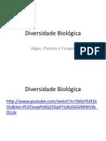 Diversidade Biológica Algas Plantas e Fungos