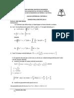 Examen Final de Calculo II 2014-II Resuelto