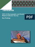 2015 16 TDHS MIS_Key Findings