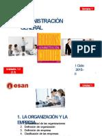 SEM 1 La Organización Hasta Proceso Administrativo
