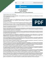 Agencia Del Deporte (Decreto Boletín Oficial)