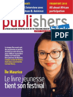 Publishers-Books-magazine-By-oape-septembre-2018 - African Magazine Reporting News in Publishing Industry