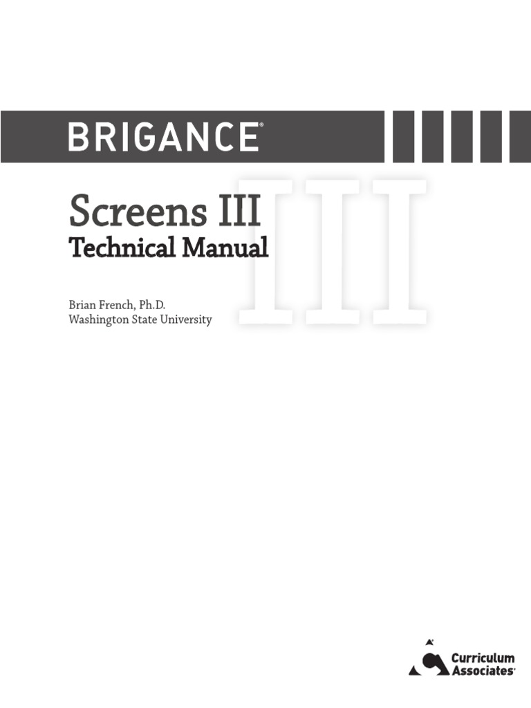 Brigance Tech Manual pdf | Intellectual Giftedness
