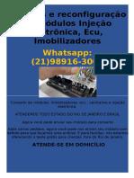 Reparos e reconfiguração de Módulos Injeção eletrônica, Ecu, Imobilizadores Whatsapp