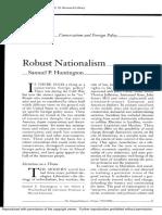 Robust Nationalism - Samuel Huntington