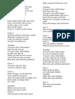 Dig a Little Deeper_choir Part
