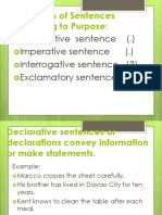 Four Types of Sentences According to Structure