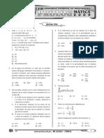 EXAMEN OLIMPIADA MATEMÁTICA - 5to Secundaria
