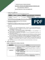 Enjemplo de bases de convocatoria (Perú)