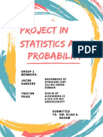 project in statistics and probability