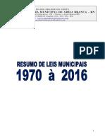 Resumo de Leis Municipais de 1970 a 2016 5a37bb4c059c5