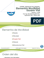 Clase 8-Elementos Movilidad Usuario Vial