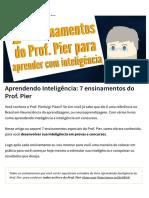 Aprendendo Inteligência_ 7 Ensinamentos Do Prof. Pier
