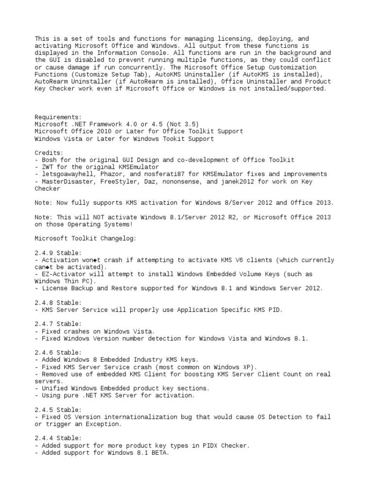 Microsoft Toolkit 2 4 9