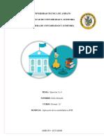 Ejercicios Constituciones de Bancos Ecuador