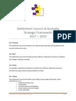 SCoA Strategic Framework 2017 2020