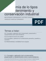 Taxonomía de Lo Tipos de Mantenimiento y Conservación